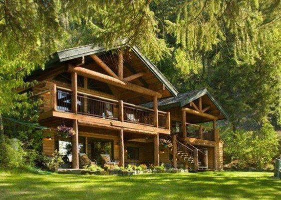 Casa de madera casas de madera pinterest madeira - Casas de madera bonitas ...
