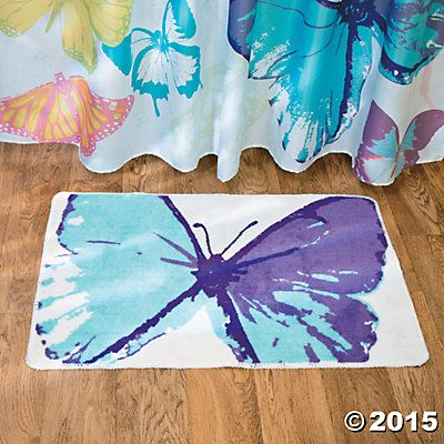 Best Bathroom Decor butterfly bathroom : butterfly Bathroom Themes | Spring Butterfly Bath Mat | Bathroom ...