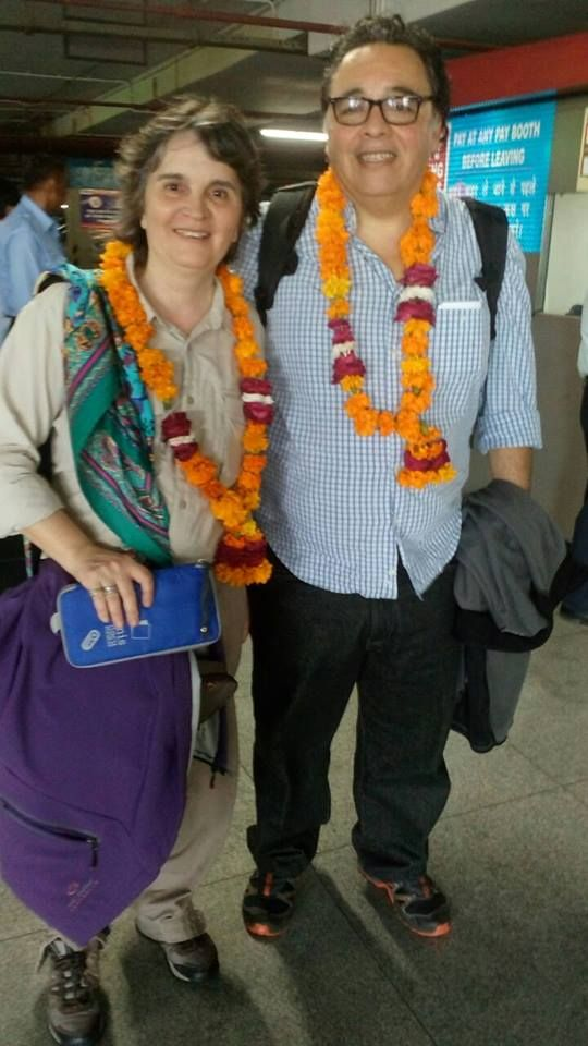 Ms. Silvia Simone With Her Husband From Argentina On India, Nepal & Maldives Tour With Imperial India Tours.