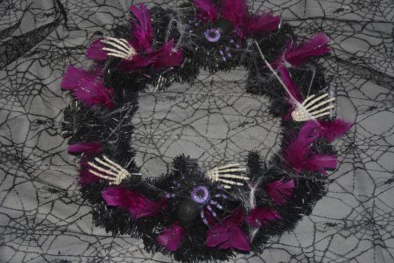 gothic halloween wreaths | Gothic Halloween wreath Halloween | Oh, The Horror