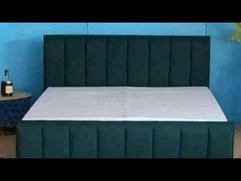 تصنيع السرير الجزء الثالث3 تنجيد ظهر السرير Youtube Cabeceiras Capitone Almofadas Cabeceiras