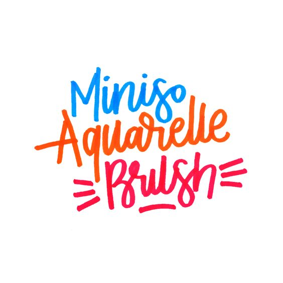 Miniso Aquarelle Brush Review Lettering Visual Art Typography