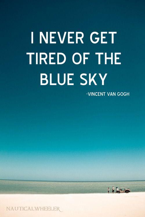 Vincent van Gogh sky #quote: