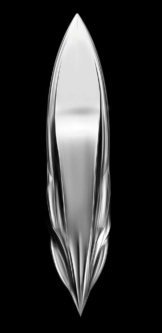 Water Living Form speed yacht conceptual sculpture by Andrea Bottigliero