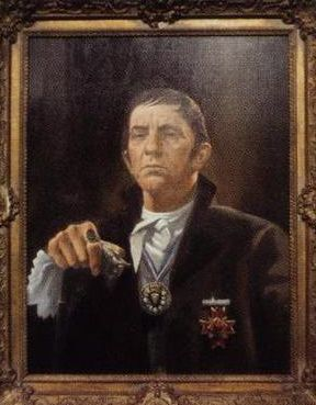 Portrait of Barnabas Collins from back in the 18th-Century when he was still human Portrait hung on a wall in Collinwood.