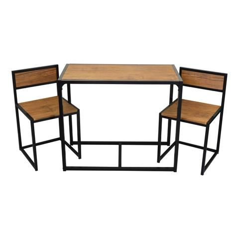 Harbour Housewares Compact Kitchen Table Chairs Dining Set
