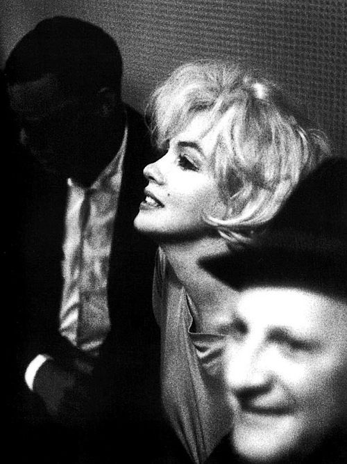 Ray Charles, Marilyn Monroe, and an unidentified man at a recording session for Frank Sinatra's 'Come Swing With Me' album, 1961.