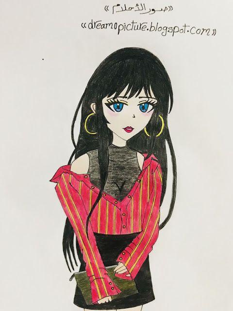 صور رسومات انمى بنات بالالوان Anime Art Blog
