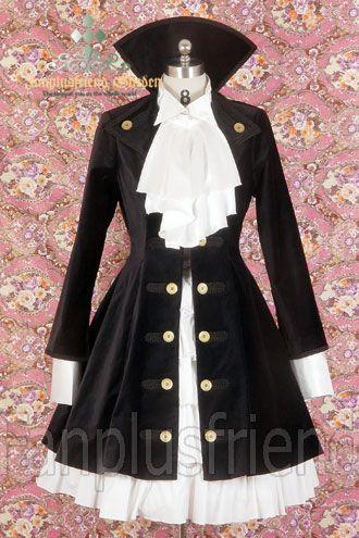 Steampunk Gothic Coat #fashion