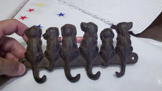 Puppy Key or Leash Hook by BriansMantiques on Etsy, $15.00