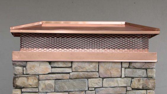 Custom Chimney Caps ~ Custom copper chimney caps scott morrow slate tile