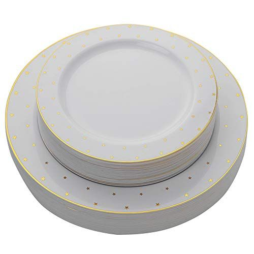 7.5 Pearl Plate Scallop Collection Pack of 10