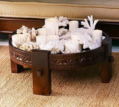 Suzie: Decor/Accessories - Wood Candle Pit | Pottery Barn - wood, candle, pit