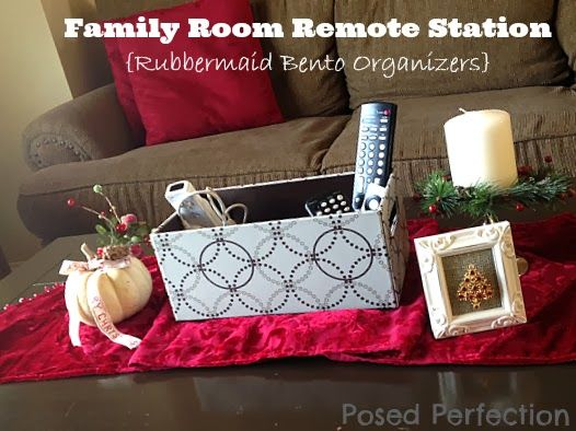 Posed Perfection: Family Room Remote Station ~ Bento Style