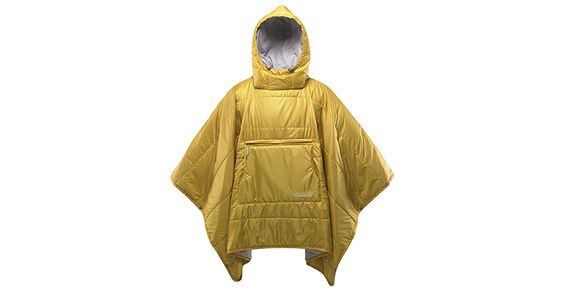 This water-resistant blanket doubles as a cozy and warm poncho to keep you as warm as possible on a chilly day.