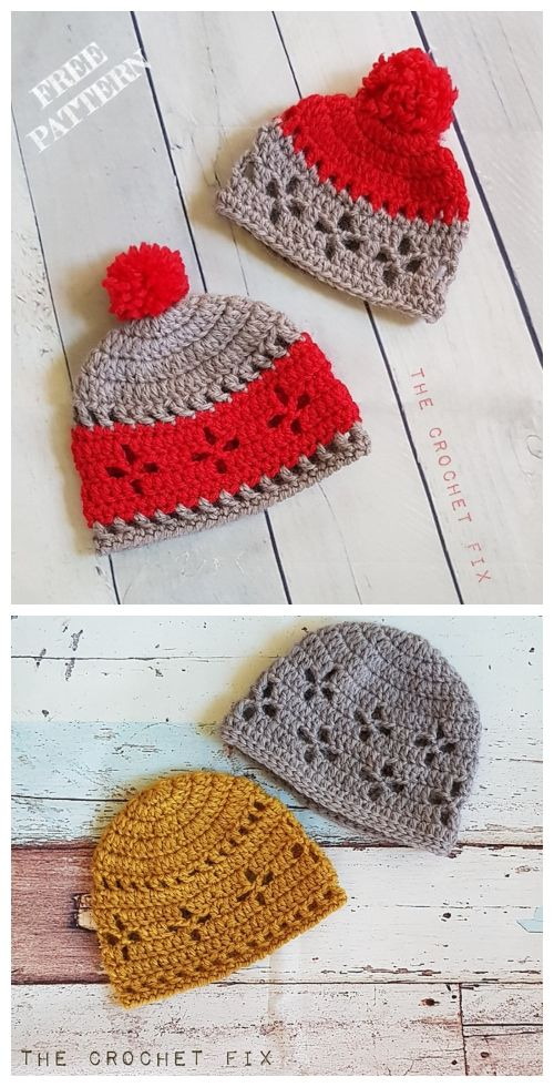 Vintage Vibes Beanie Hat Free Crochet Patterns All Sizes With