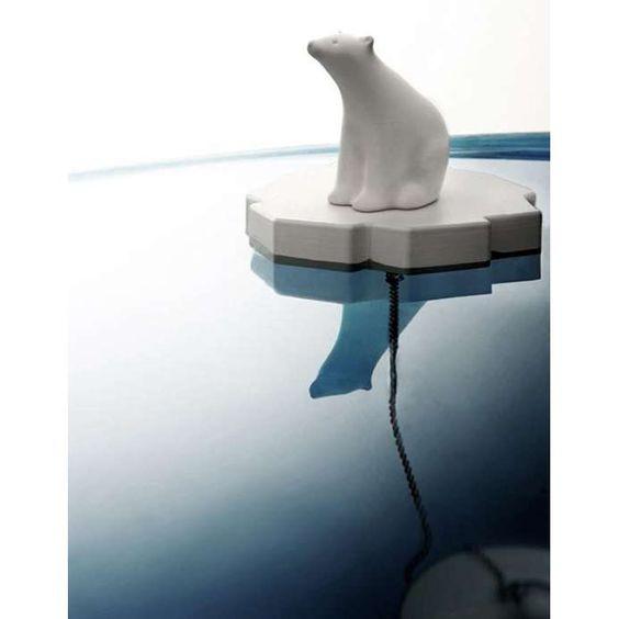 Polar Bear drain stopper: http://oddstuffmagazine.com