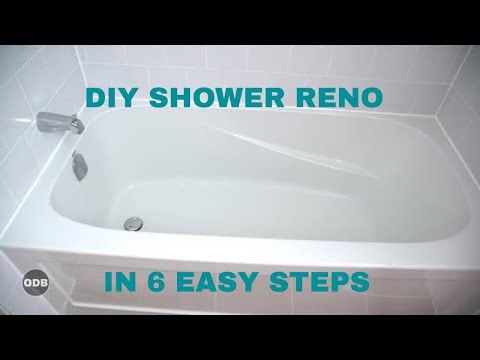 Diy How To Renovate The Tub Shower From A To Z Youtube With