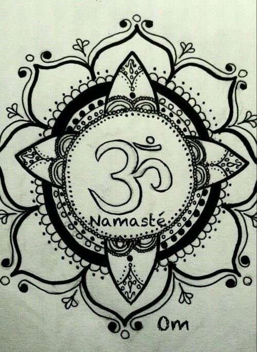 Namaste symbol, Namaste and Hand sketch on Pinterest