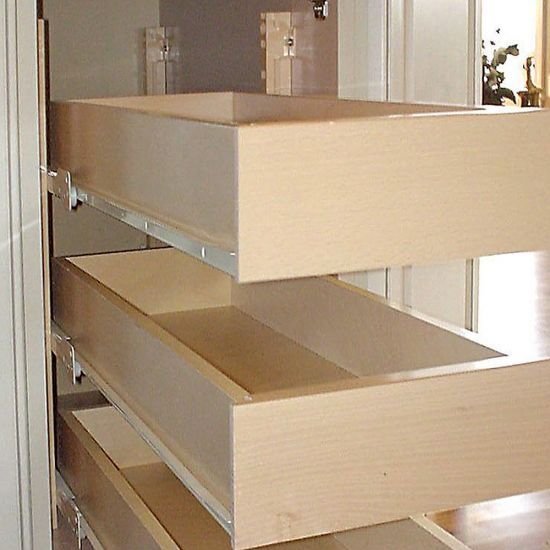 1 1 4 Quiktray Rollout Shelf Systems Quiktray Rollout System Rockler Woodworking Tools Diy Kitchen Renovation Pantry Shelving Shelves