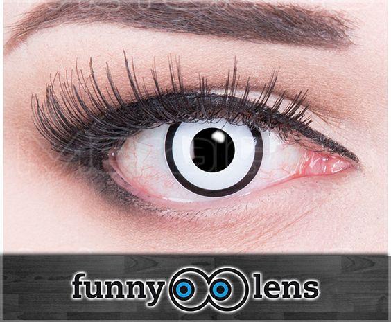 "Crazy Kontaktlinse ""White Zombie"""