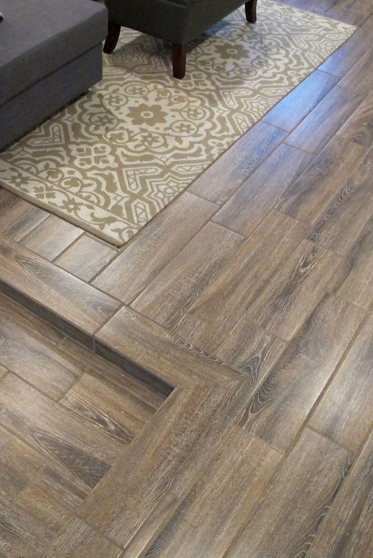 Cozy Chic Basement Reno With Exposed Painted Joists Wood Tile Floors Tile Basement Floor Ceramic Wood Tile Floor Wood Ceramic Tiles