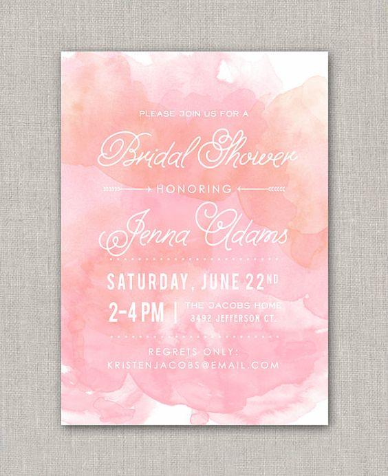 Watercolor Bridal Shower Invitation | Shower invitations ...