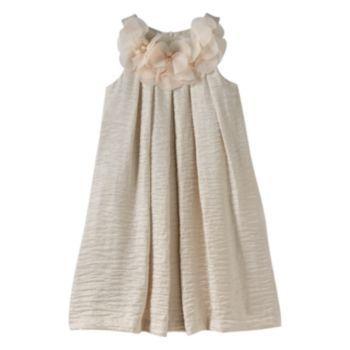 Jessica McClintock Crinkle Shimmer Shift Dress - Girls 7-16