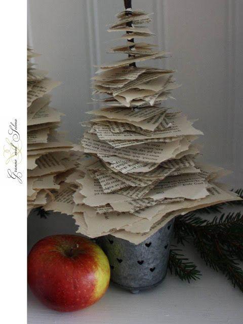 Granne med Selma - Blogg: Vintage Paper Christmas Tree