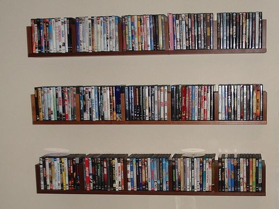 Classic Wall Mounted Floating DVD Storage Cabinets
