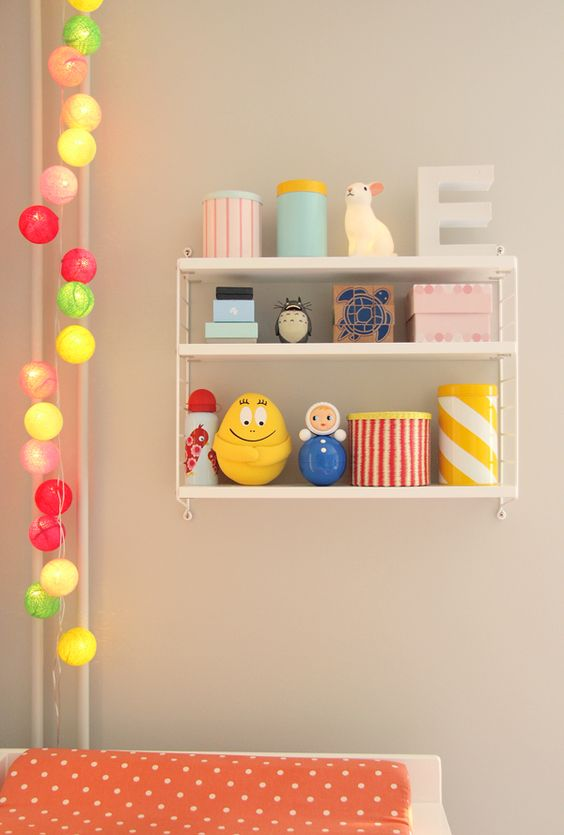 String Lights For Children S Room : Fun cannisters for baby s room kids Pinterest String lights, Child room and Ball lights