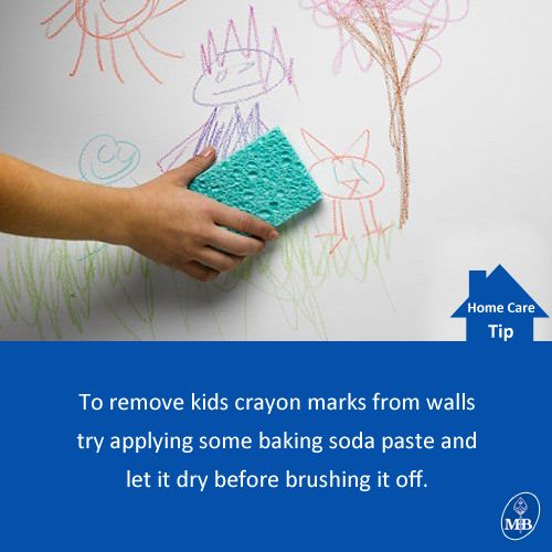 Try this out to remove #crayon marks from #wall!  #Cleaning #HomeCare #tip