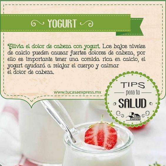 Alivia el dolor de cabeza con yogurt. #Salud #TipsExpress