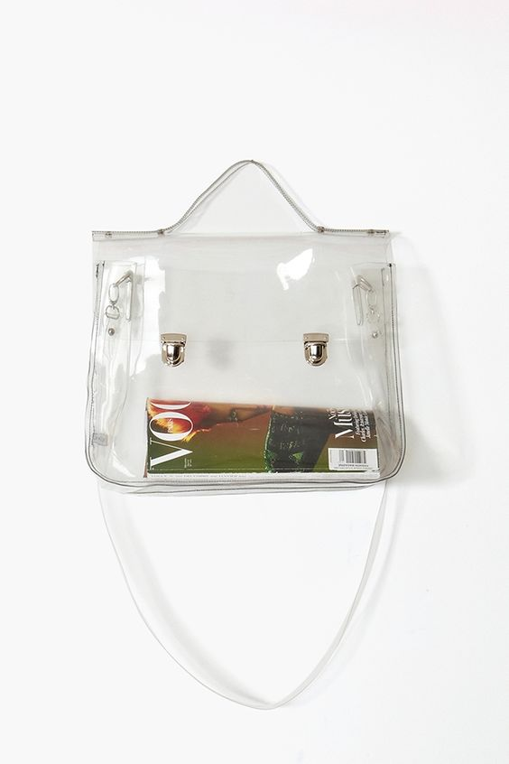 Glastonbury Festival Fashion Inspiration. clear plastic see through bag, satchel. Spring 2013 Eye Candy Tote