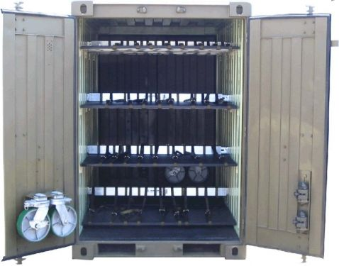 Quadcon Dry Freight Iso Container With Shelving System Common 10