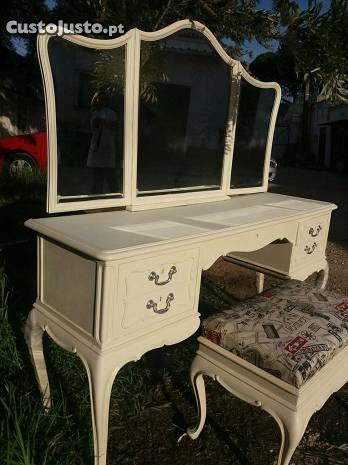 Toucador Shabby Chic C/Banqueta - à venda - Móveis & Decoração ... shabby chic furniture and decor, images at http://coastersfurniture.org/shabby-chic-furniture/shabby chic-furniture/