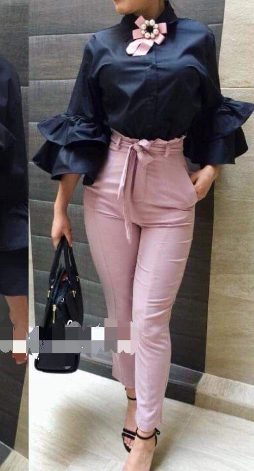 Pin De Elena Miloshova En Blusas Pantalones De Moda Ropa De Moda Ropa