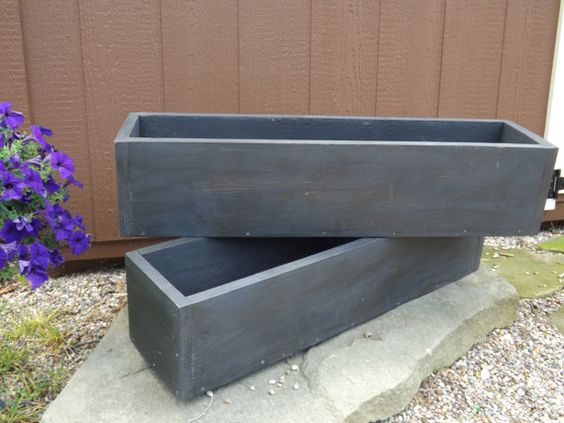 Dark distressed outdoor planter boxes/window by PatternedHome, $30.00