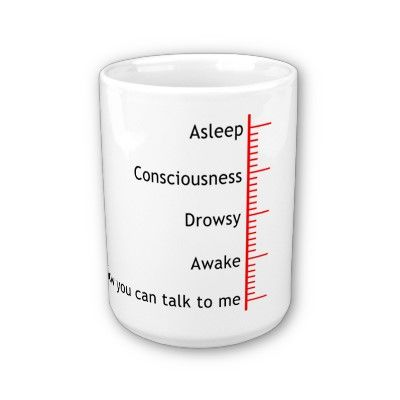 Dimmi quanto è piena la tua tazza e ti dirò se sei già sveglio oppure no... Buongiorno a tutti!