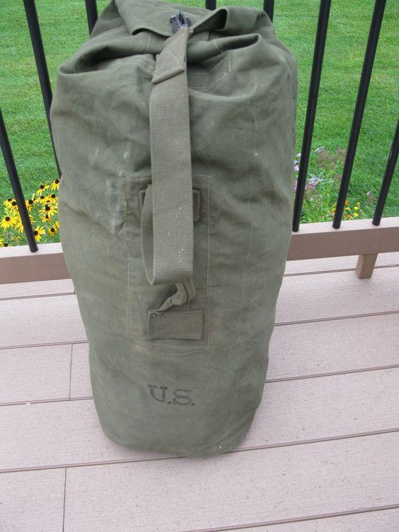 Vintage Suitcase military suitcase Luggage green canvas suitcase travel suitcase Tarpaulin Suitcase