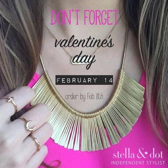 Shop now and receive your Valentine's Day gift on time! Shop: www.stelladot.com/Johelys
