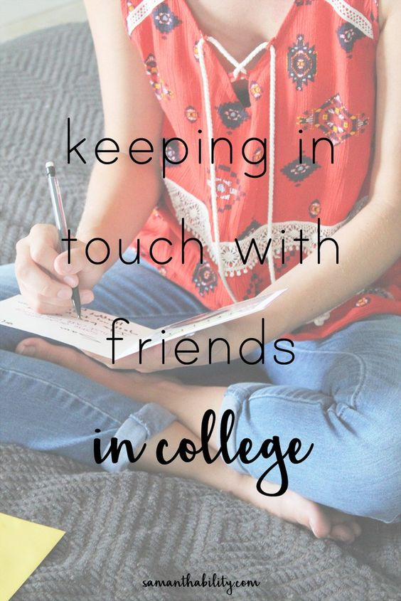 These tips will help you keep in touch with old friends in college! Keeping in touch can be hard, but messaging apps like #Chaatz make it easier, as well as writing letters, and video chatting!