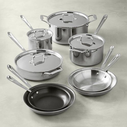 All Clad Bd005710 R D5 Stainlesssteelcookware Set 10 Piece Review All Cladbd005710 Rd5 S Cookware Set Stainless Steel Cookware Set Stainless Steel Cookware