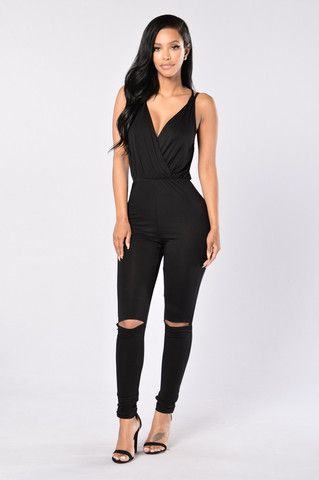 Daily Dose Jumpsuit- Black