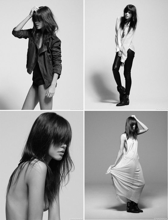 soft, super pretty models, oozing edginess and rock glamour