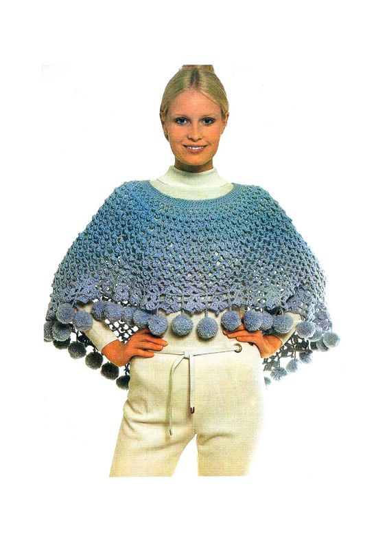 Free Knitting Pattern For Short Poncho : Crochet shorts, Lady and Shorts on Pinterest
