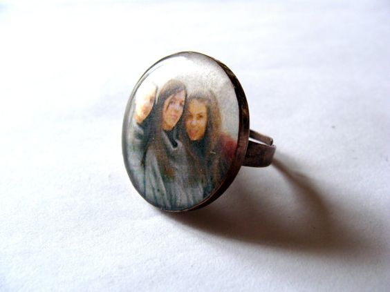 Personalized ring custom ring resin ring by MarianaHandmade, $18.00
