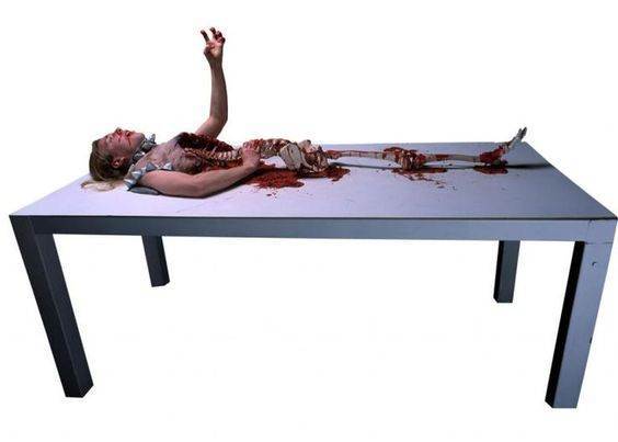 diy haunted house ideas and props | Butcher Table Haunted House Prop - Decorations & Props