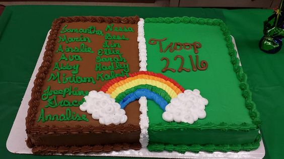 Cake Ideas For Girl Scouts : Girl Scout Bridging Tip: ?Remember, the child is bridging ...