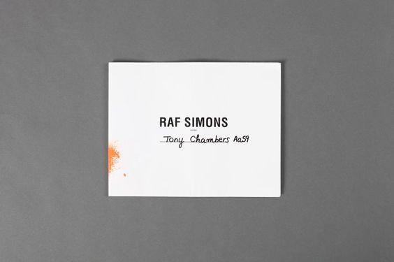 Raf Simons SS12 Mens - card, spray paint